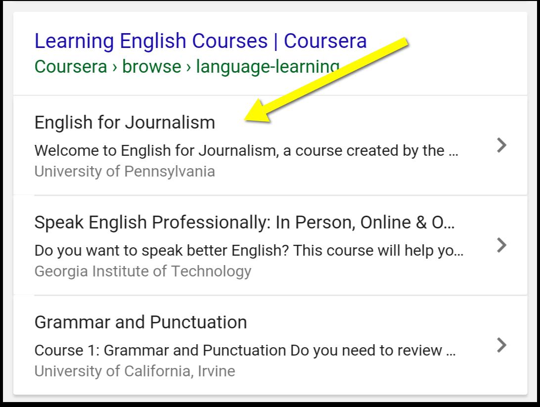 Schema courses