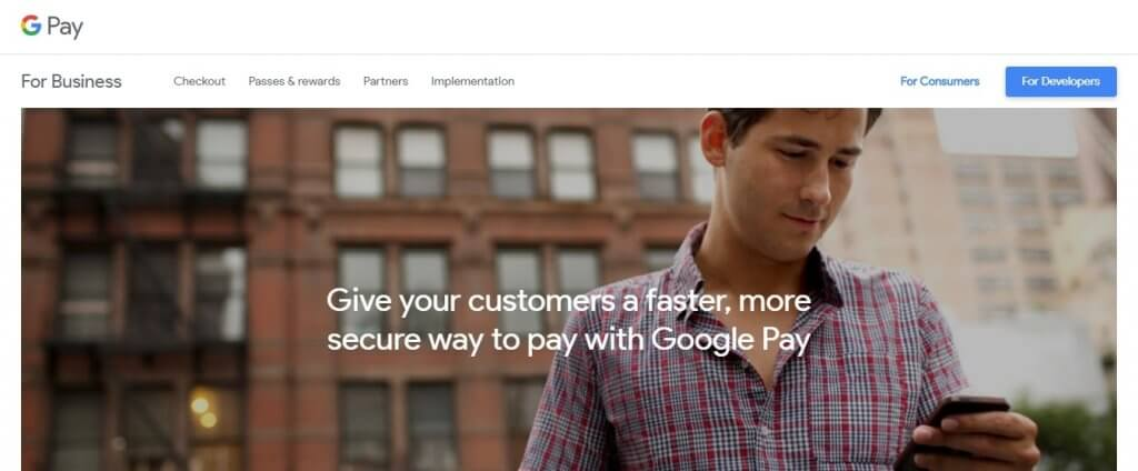 Google Pay Online Payment Method