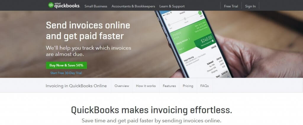 QuickBooks invoicing billing tools