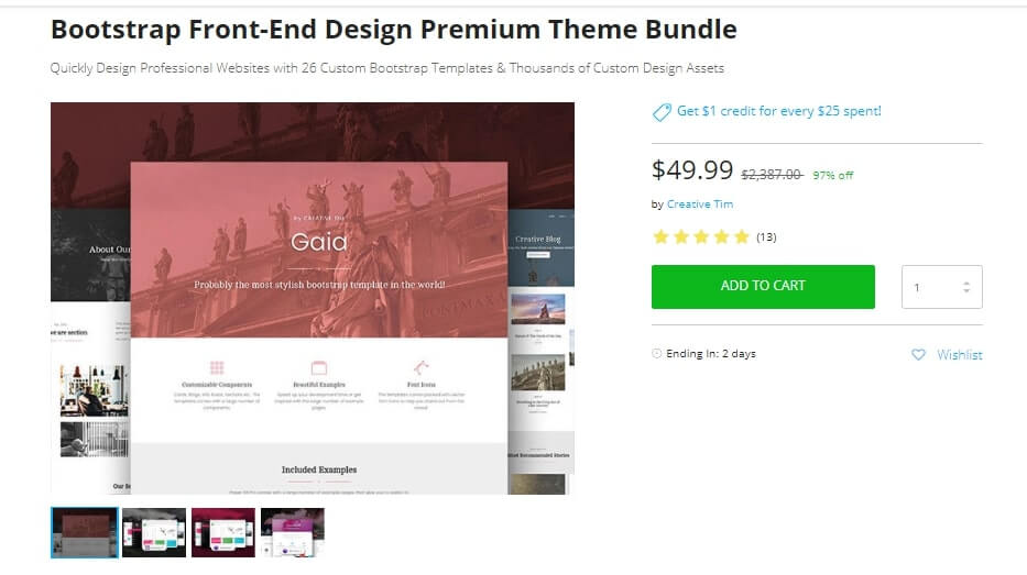 Creative Tim bundle pricing