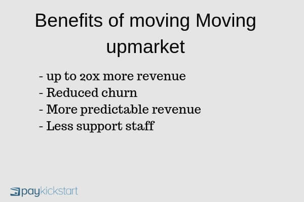 benefits of moving saas upmarket