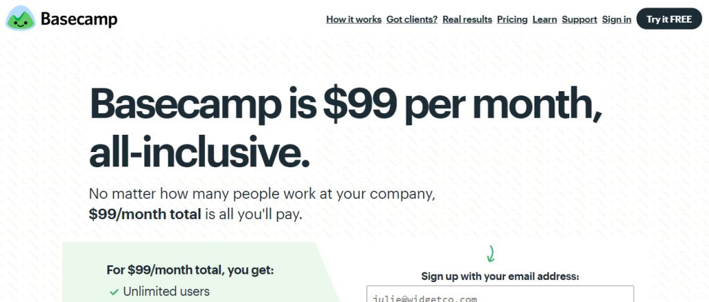 Basecamp pricing