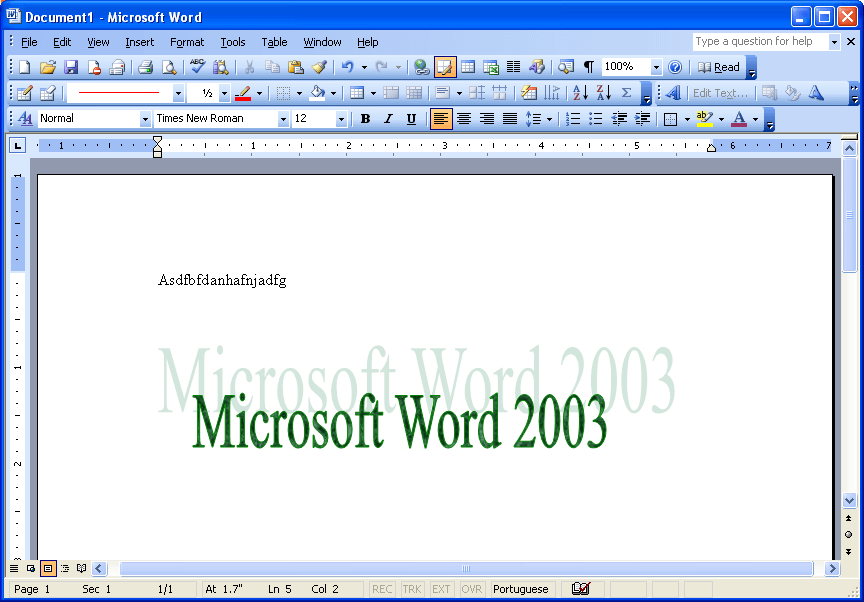 Microsoft word feature creep