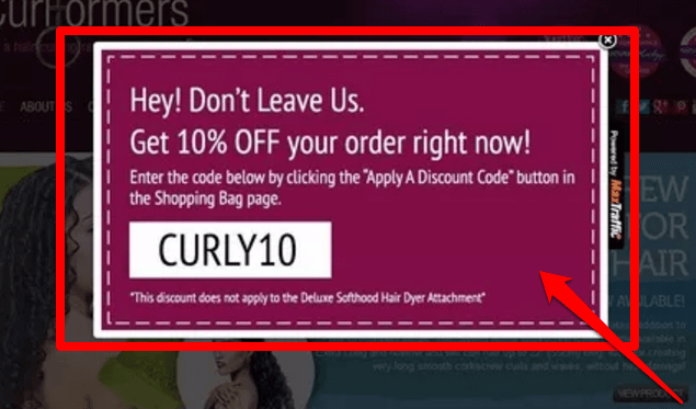 exit popup example