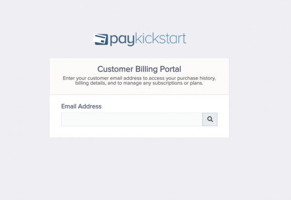 Customer billing portal